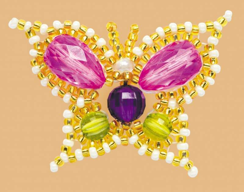 Б168 Набор для бисероплетения Riolis 'Волшебная бабочка', 4,5*3,5 см