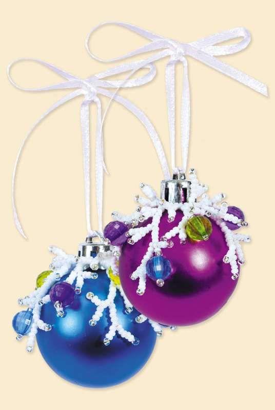 Б173 Набор для бисероплетения Riolis новогоднее украшение 'Шары', 5 см