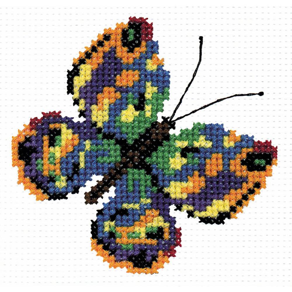 126 Набор для вышивания 'РС-Студия' 'Бабочка зеленая', 11*11 см