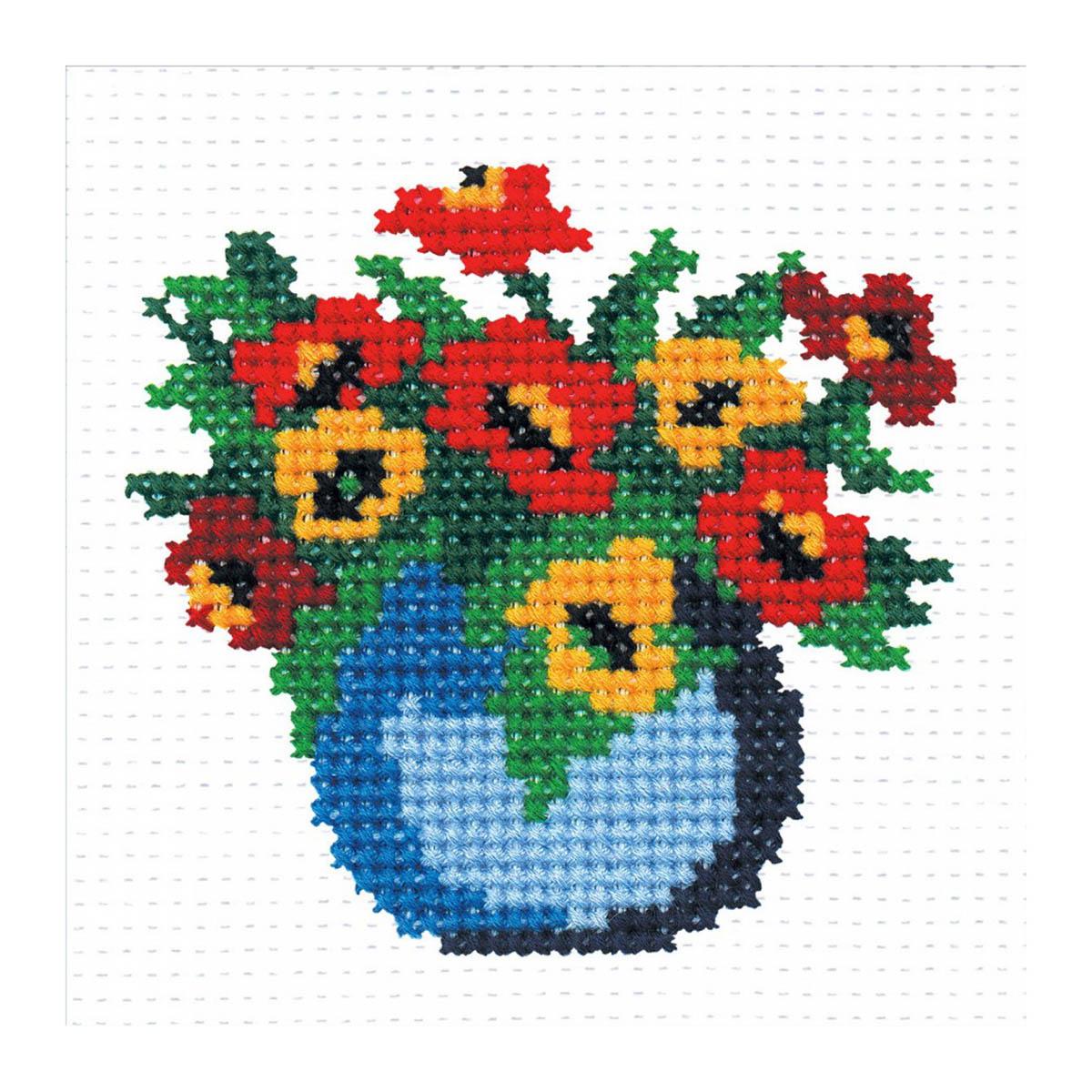 137 Набор для вышивания 'РС-Студия' 'Ваза с цветами', 10*10 см