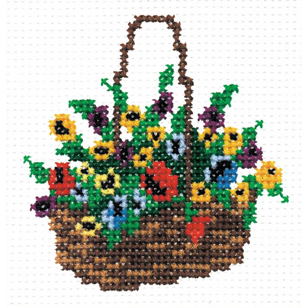142 Набор для вышивания 'РС-Студия' 'Корзина с цветами', 10*10 см