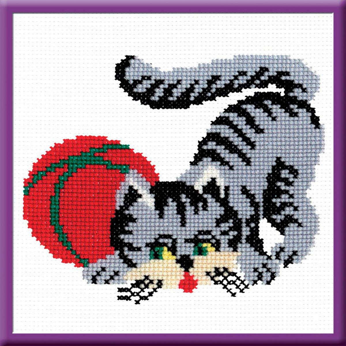 152 Набор для вышивания 'РС-Студия' 'Кошка серая', 15*18 см