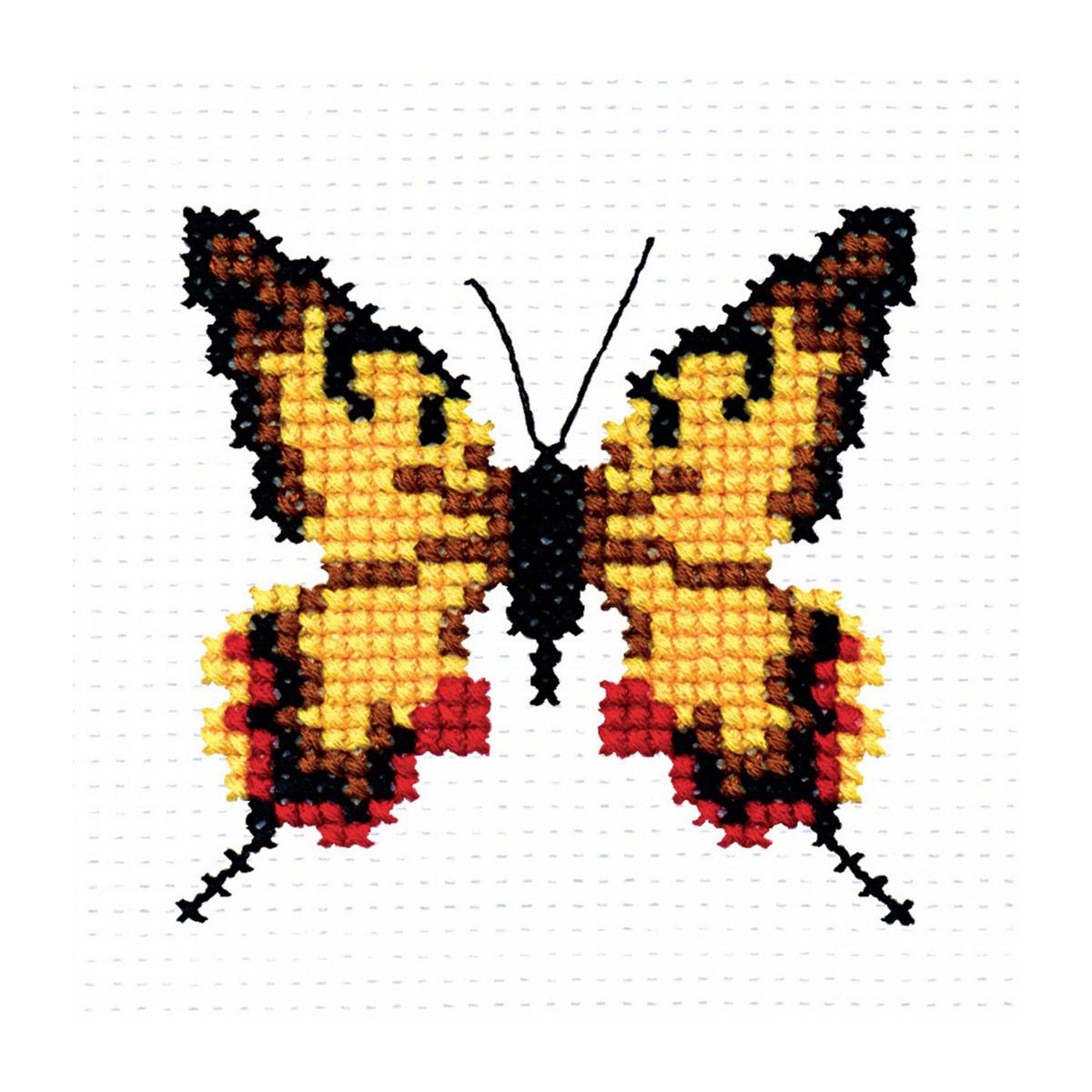504 Набор для вышивания 'РС-Студия' 'Бабочка', 8*8 см