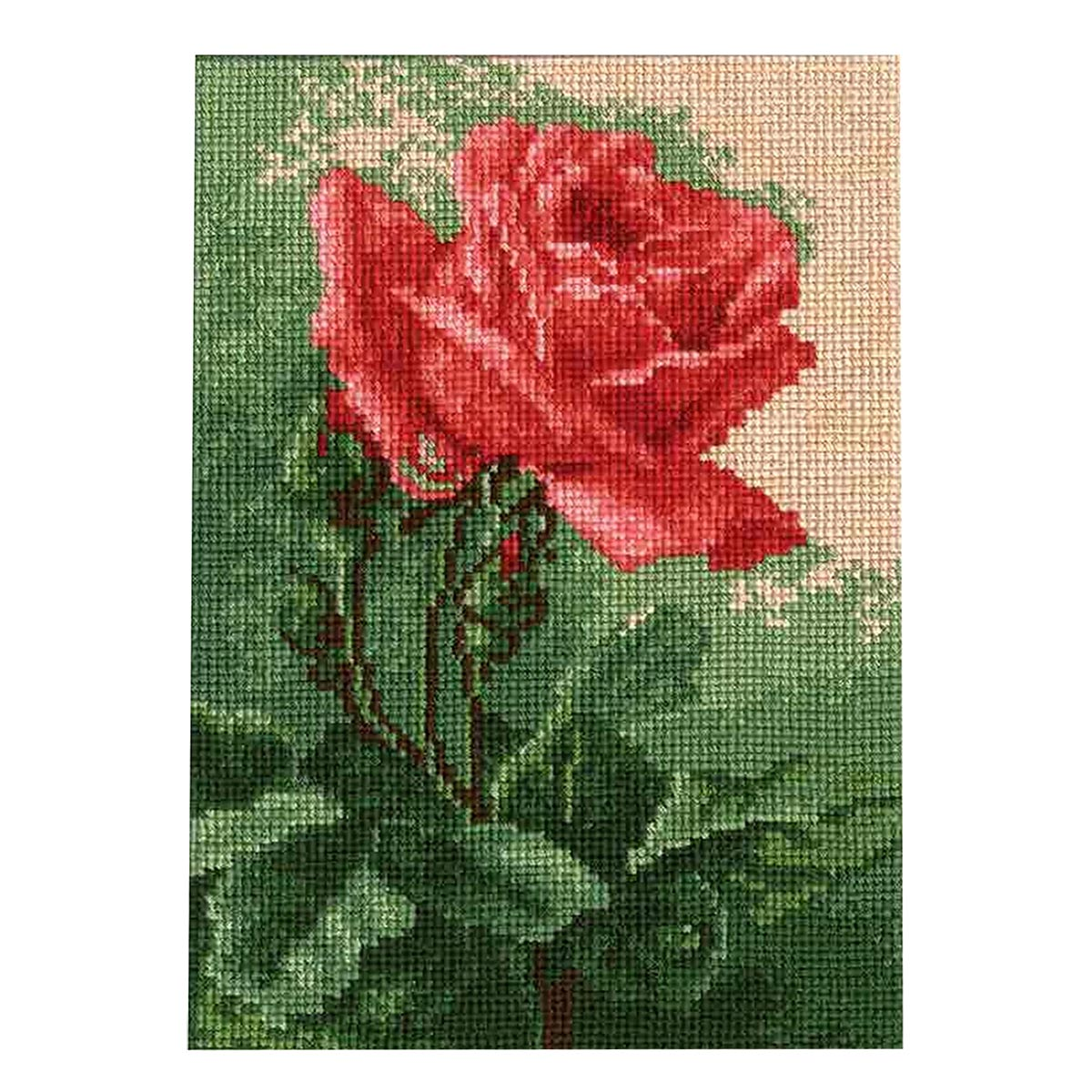 604 Набор для вышивания Hobby&Pro 'Алая роза', 21*14,5 см