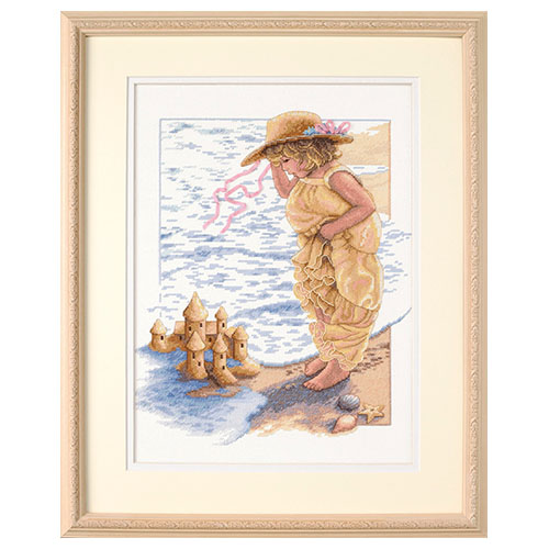 13730-DMS Набор для вышивания Dimensions 'Замки из песка', 28x36 см