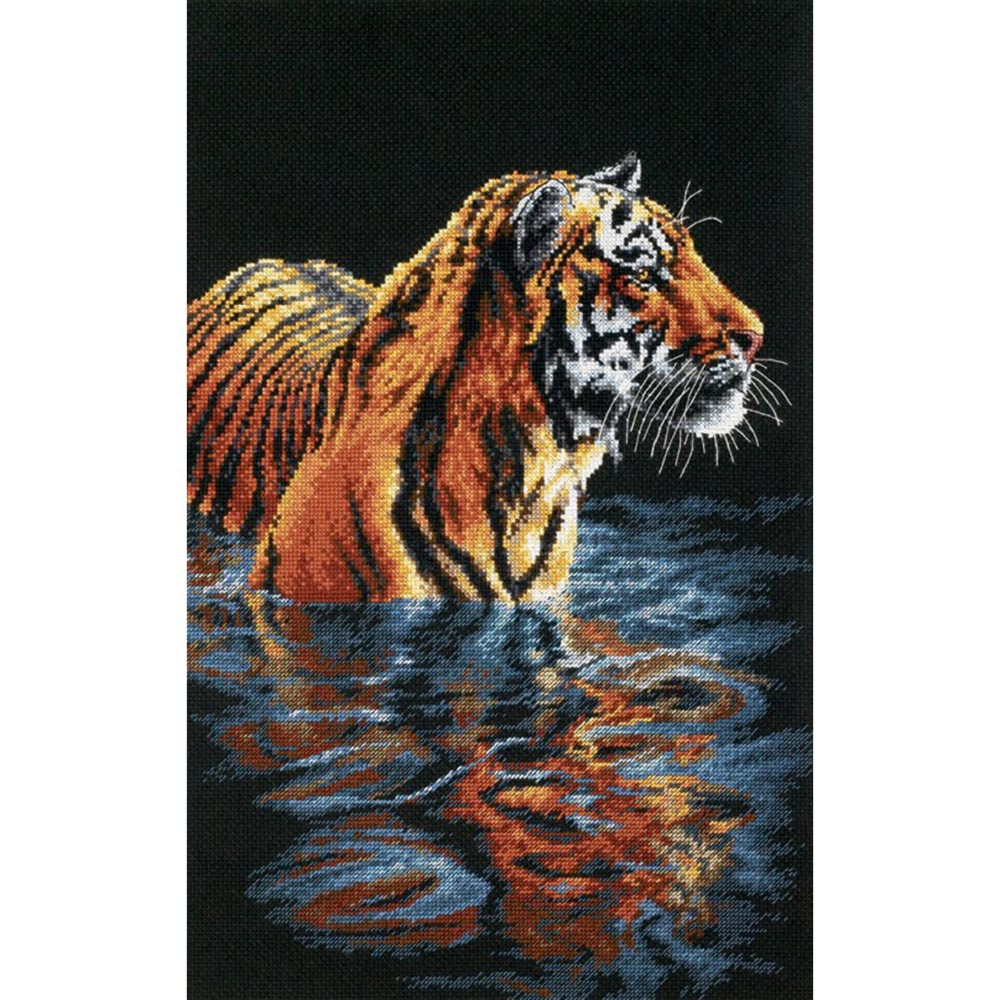 35222-DMS Набор для вышивания Dimensions 'Купающийся тигр', 23х36 см