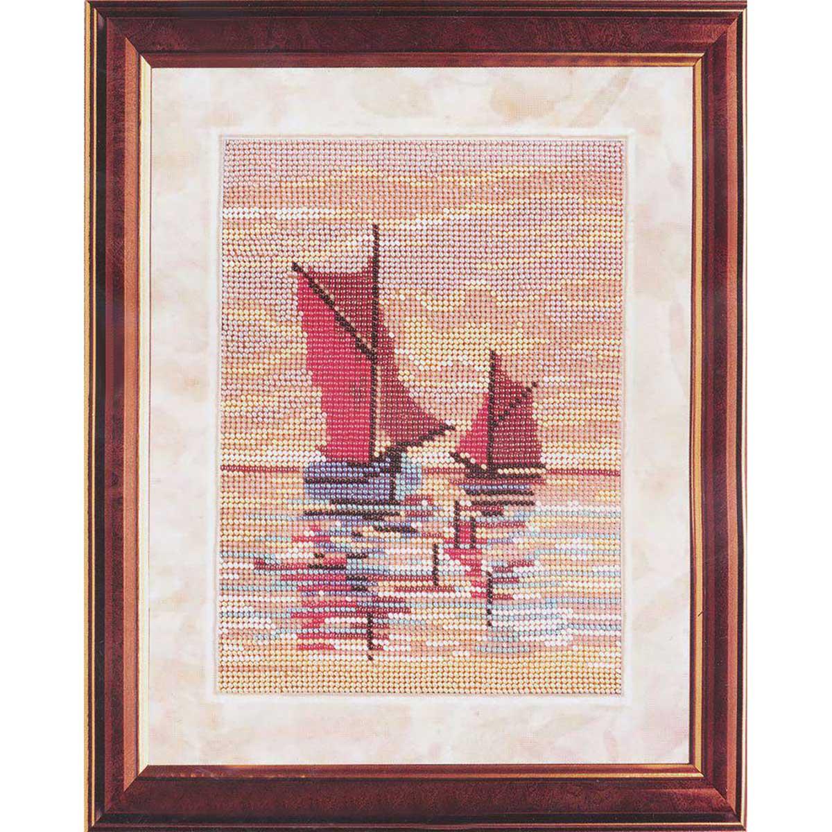 В036 Набор для вышивания бисером 'Лодки в море'