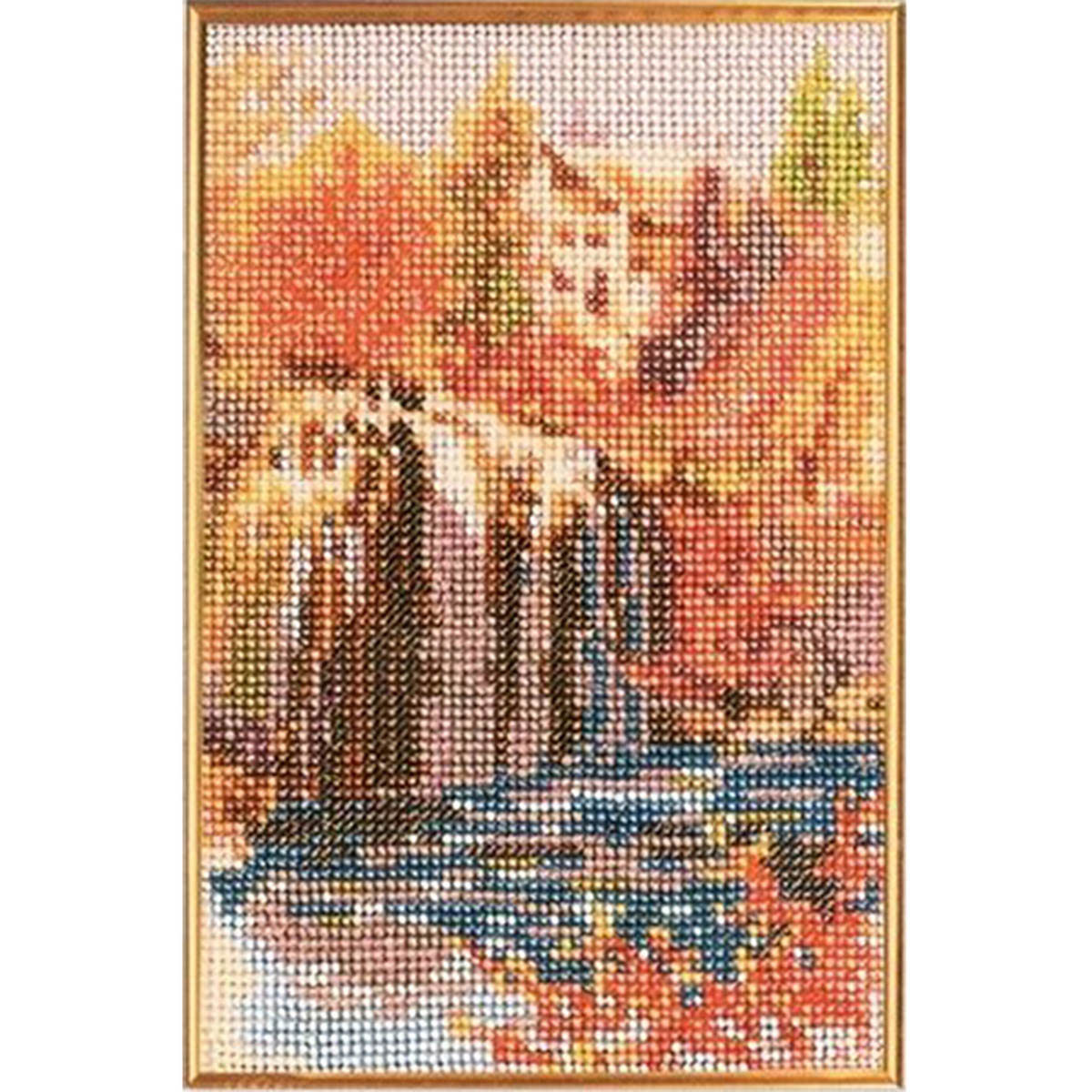 В040 Набор для вышивания бисером 'Водопад'