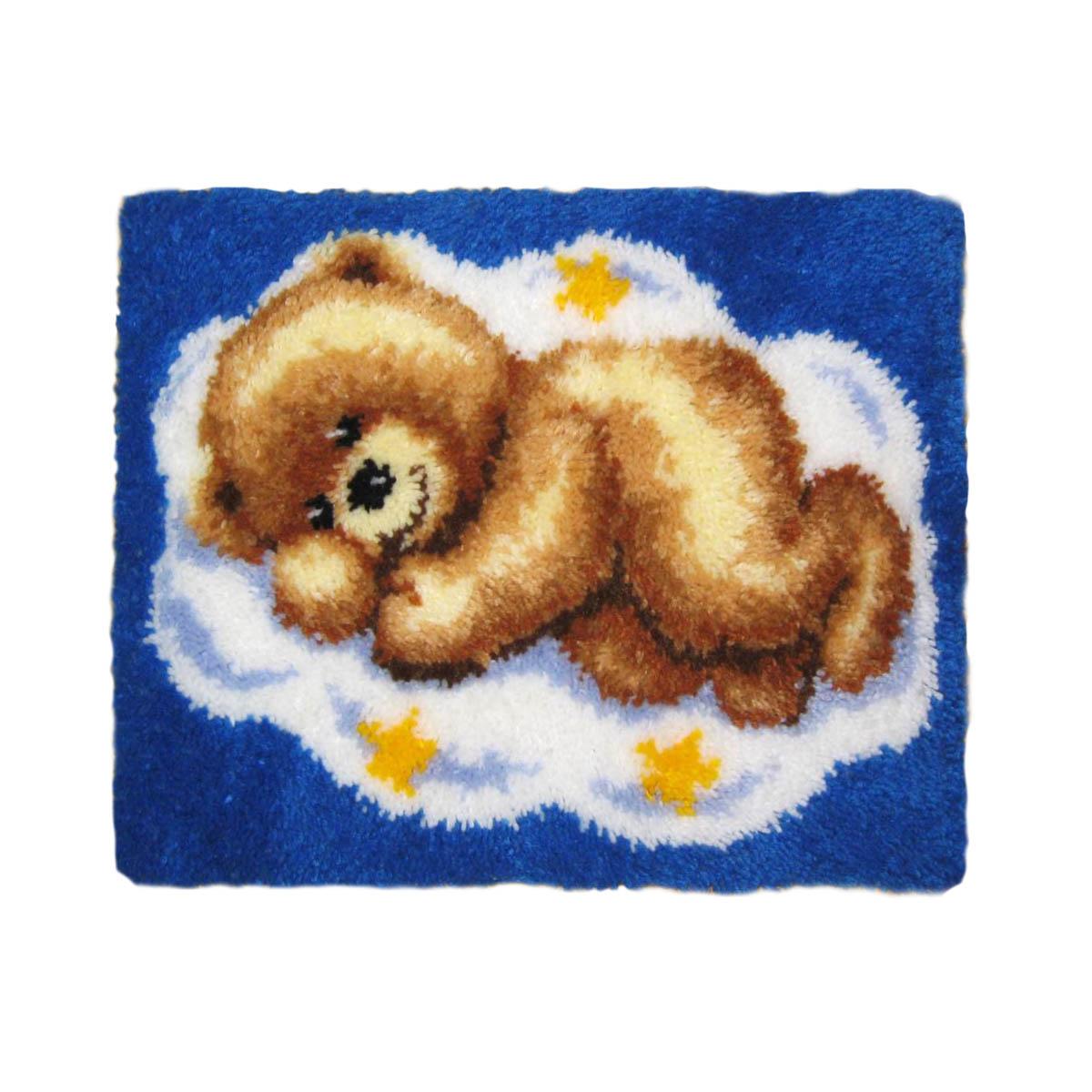 0014291-PN Коврик (ковровая техника) Vervaco 'Мишка на облаке' 55x40 см