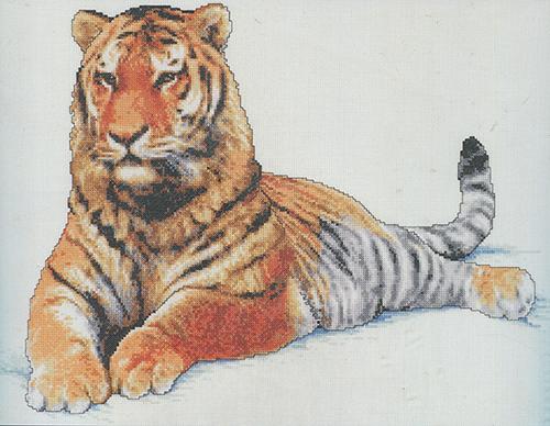 013-0336 Набор д/вышивания JANLYNN 'Маньчжурский тигр' 45,7*33 см