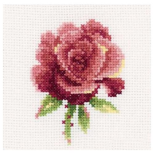Н168 Набор для вышивания RТО 'Роза красная', 10х10 см
