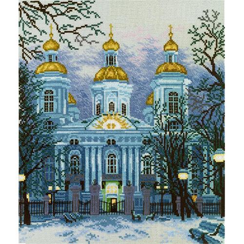 М136 Набор для вышивания RTO 'Николо-Богоявленский собор', 28х33 см