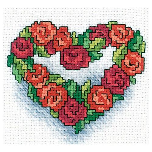 Н121 Набор для вышивания RТО 'Сердечко из роз', 10х10 см