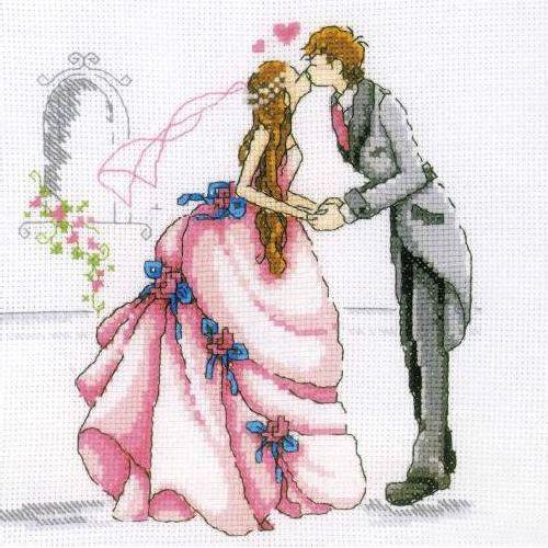 М165 Набор для вышивания RTO 'Свадьба', 20х20 см