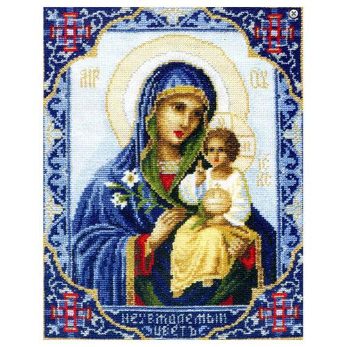 314 Набор для вышивания 'Чарівна Мить' Икона Божьей Матери 'Неувядаемый Цвет', 21*26,5 см