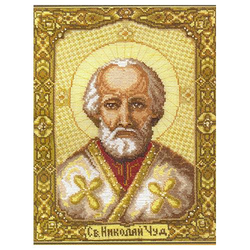 253 Набор для вышивания 'Чарівна Мить' 'Икона Святителя Николая Чудотворца', 21,5*28 см
