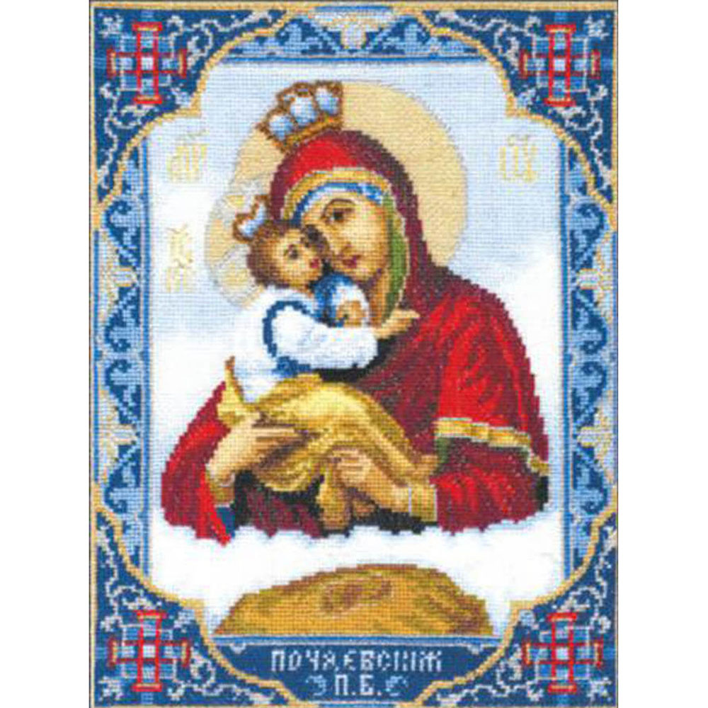 325 Набор для вышивания 'Чарівна Мить' 'Икона Пресвятой Богородицы Почаевской', 20,5*26 см