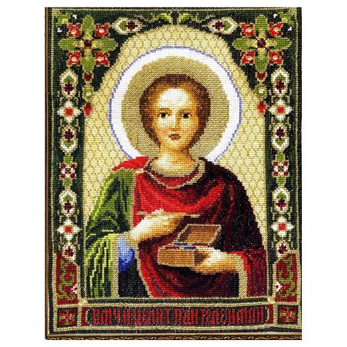 336 Набор для вышивания 'Чарівна Мить' 'Икона Великомученика Пантелеймона', 21*27 см