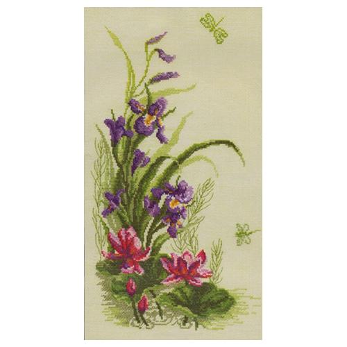 232 Набор для вышивания 'Чарівна Мить' Триптих 'Полевые цветы', 22*41 см