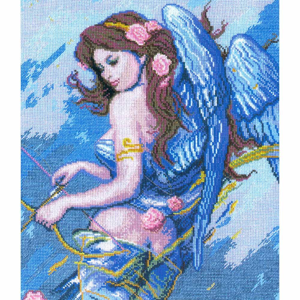 269 Набор для вышивания 'Чарівна Мить' По мотивам К. Банга 'Ангел с луком', 27*33,5 см