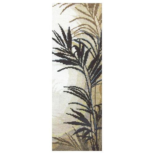 438 Набор для вышивания 'Чарівна Мить' Триптих 'Пальмовые листья', 13*37 см