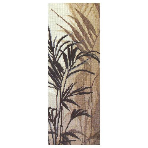 439 Набор для вышивания 'Чарівна Мить' Триптих 'Пальмовые листья', 13*37 см