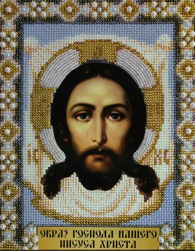 Б-1003 Набор для вышивания бисером 'Чарівна Мить' 'Образ Господа Нашего Иисуса Христа', 20*24,5 см