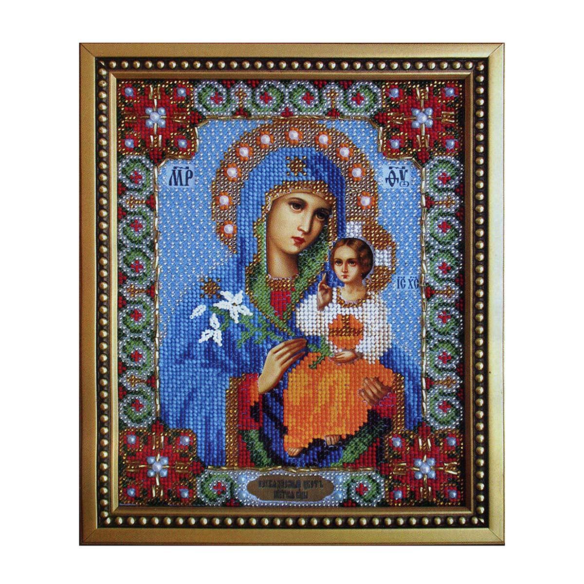 Б-1010 Набор для вышивания бисером 'Чарівна Мить' 'Икона Божьей Матери Неувядаемый цвет', 17,8*22,5 см