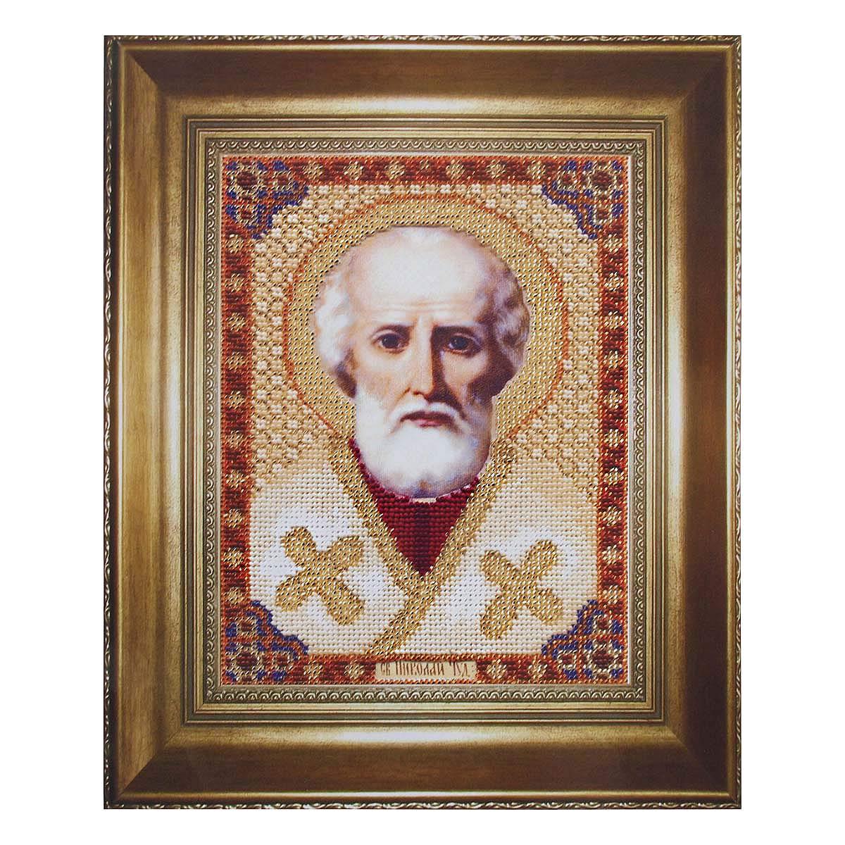 Б-1001 Набор для вышивания бисером 'Чарівна Мить' 'Икона святителя Николая Чудотворца', 17,3*23,5 см