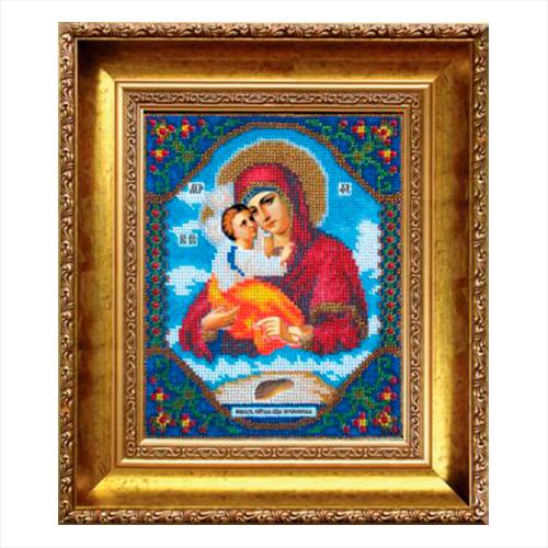 Б-1006 Набор для вышивания бисером 'Чарівна Мить' 'Икона Божьей Матери Почаевская', 17,2*21,6 см фото