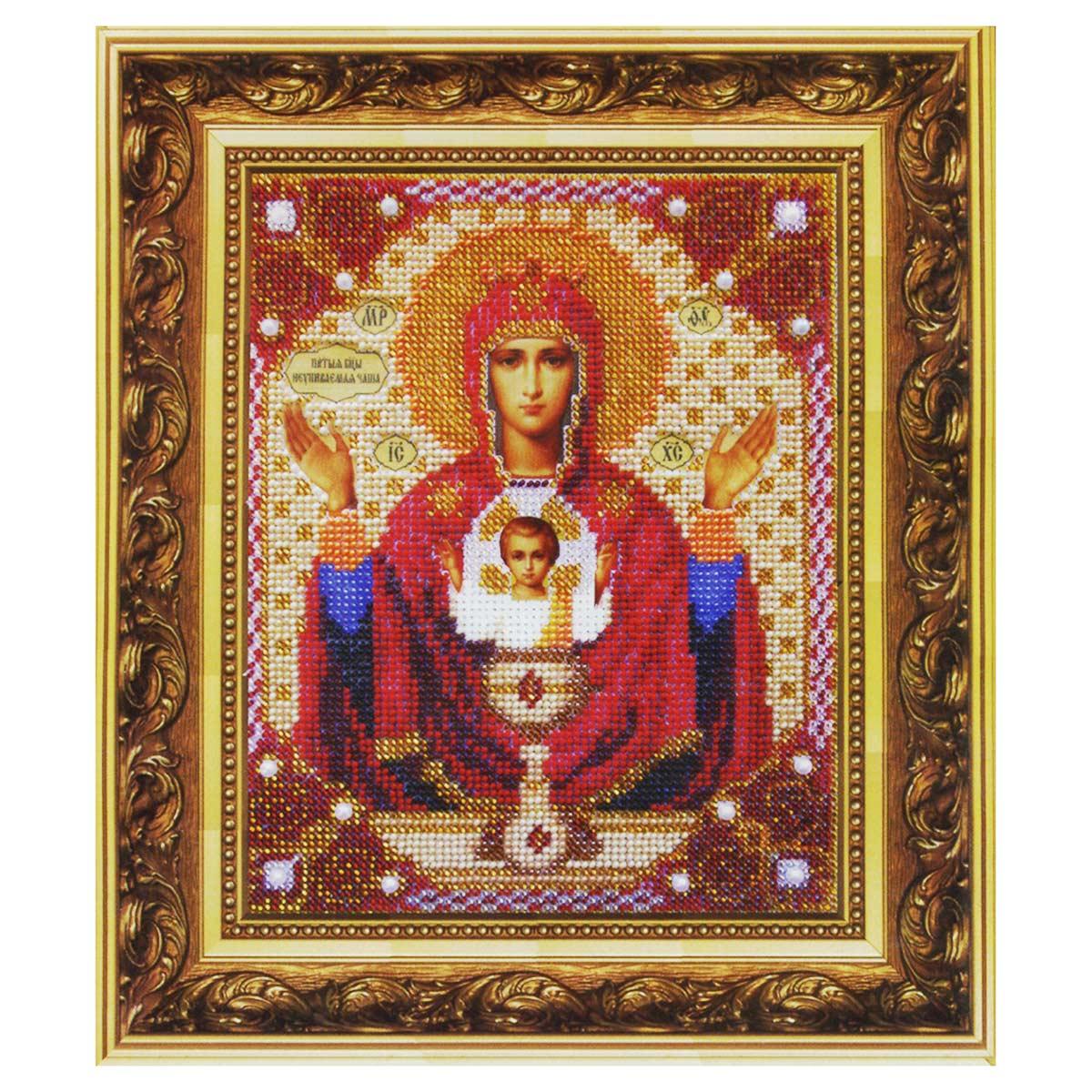 Б-1009 Набор для вышивания бисером 'Чарівна Мить' 'Икона Божьей Матери Неупиваемая чаша', 15,8*19,3 см
