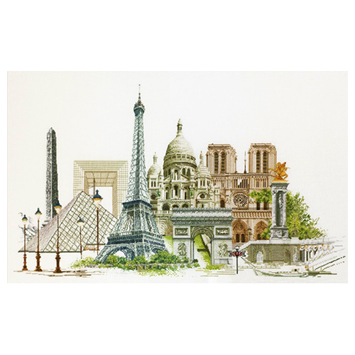 472 Набор для вышивания Gouverneur 'Париж', лён, 79*50 см