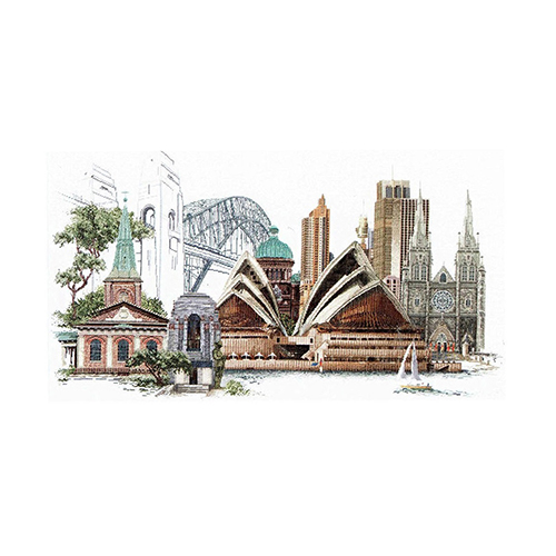 480 Набор для вышивания Gouverneur 'Сидней', лён, 79*50 см