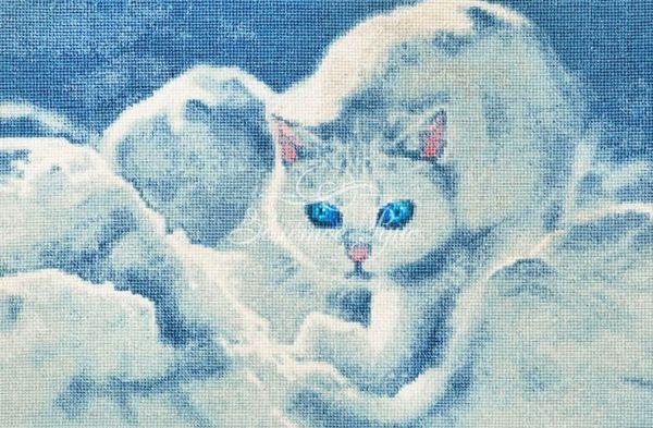ГТ-042 Набор для вышивания (Белый кот)