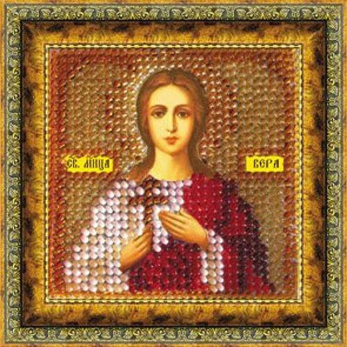 047ПМИ Набор для вышивания бисером 'Вышивальная мозаика' Икона 'Св. Мученица Вера', 6,5*6,5 см