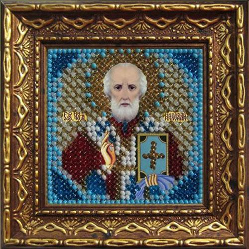 2010дПИ Набор для вышивания бисером 'Вышивальная мозаика' 'Св.Николай Чудотворец', 6,5*6,5 см