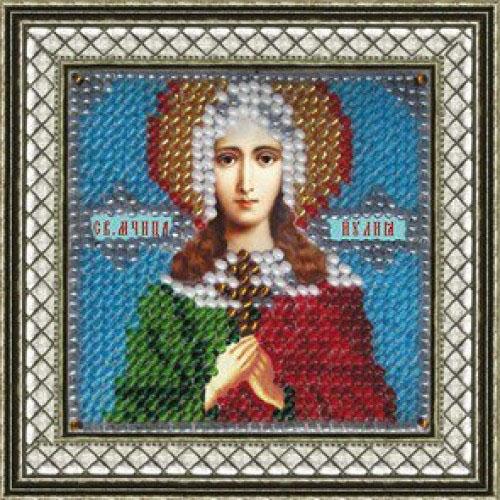 065ПМИ Набор для вышивания бисером 'Вышивальная мозаика' Икона 'Св. Муч. Иулия (Юлия) Карфагенская', 6,5*6,5 см