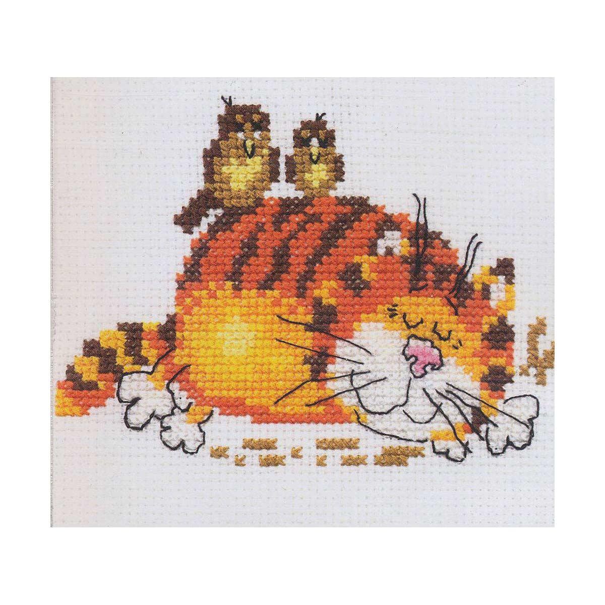 0-01 Набор для вышивания АЛИСА 'Ленивый кот' 11*9см