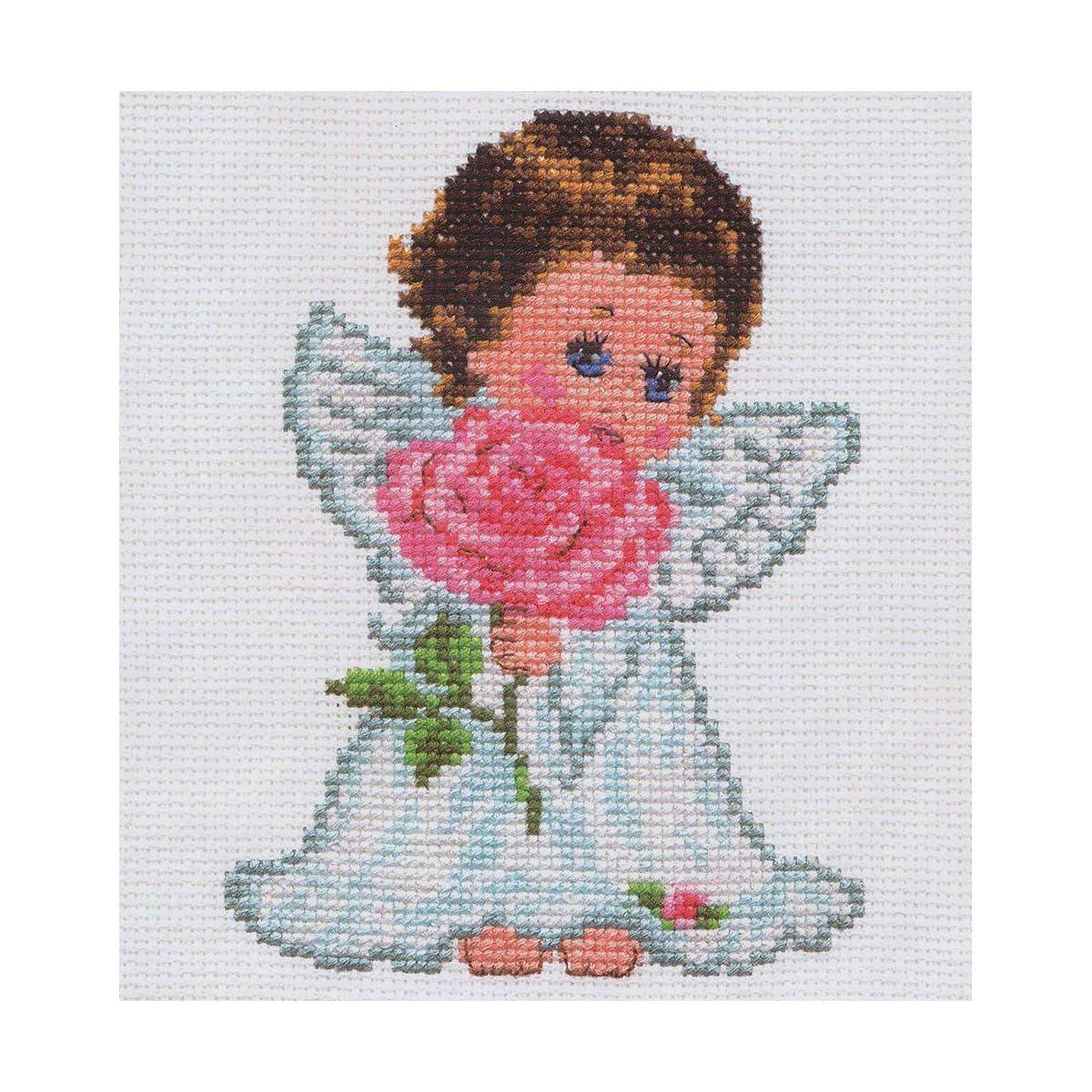 0-13 Набор для вышивания АЛИСА 'Ангелок любви' 10*14см