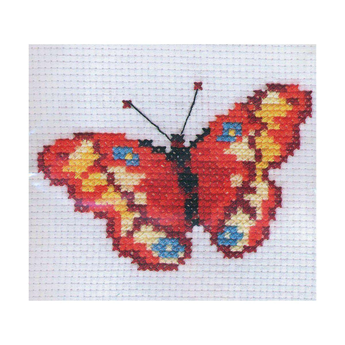 0-43 Набор для вышивания АЛИСА 'Бабочка' 10*7см