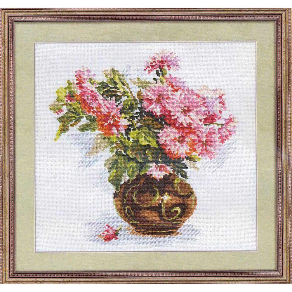 2-09 Набор для вышивания АЛИСА 'Цветущий сад. Хризантемки' 26*29см