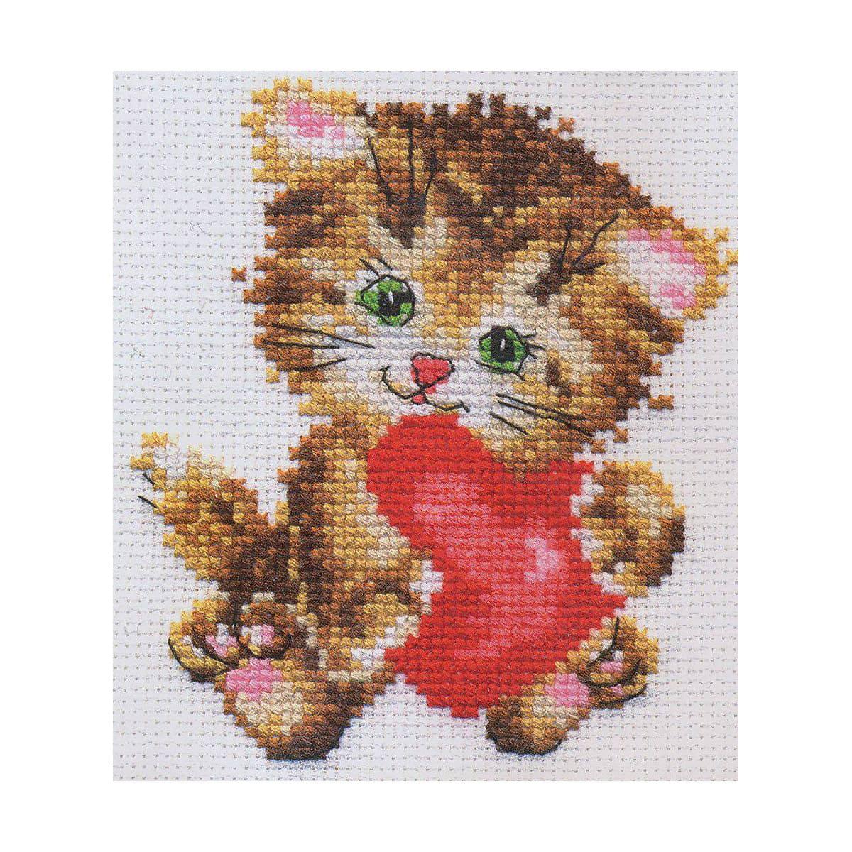 0-61 Набор для вышивания АЛИСА 'Любимая киска' 10*11см