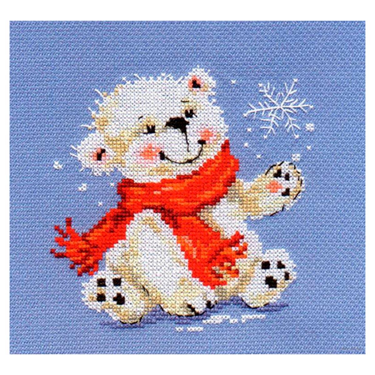 0-53 Набор для вышивания АЛИСА 'Белый медвежонок' 12*13см фото