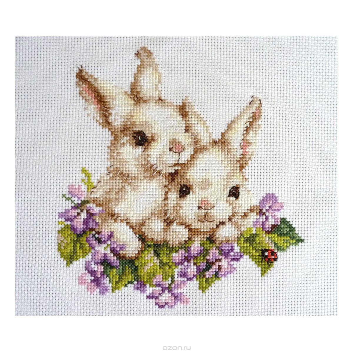 1-11 Набор для вышивания АЛИСА 'Крольчата' 15*16см