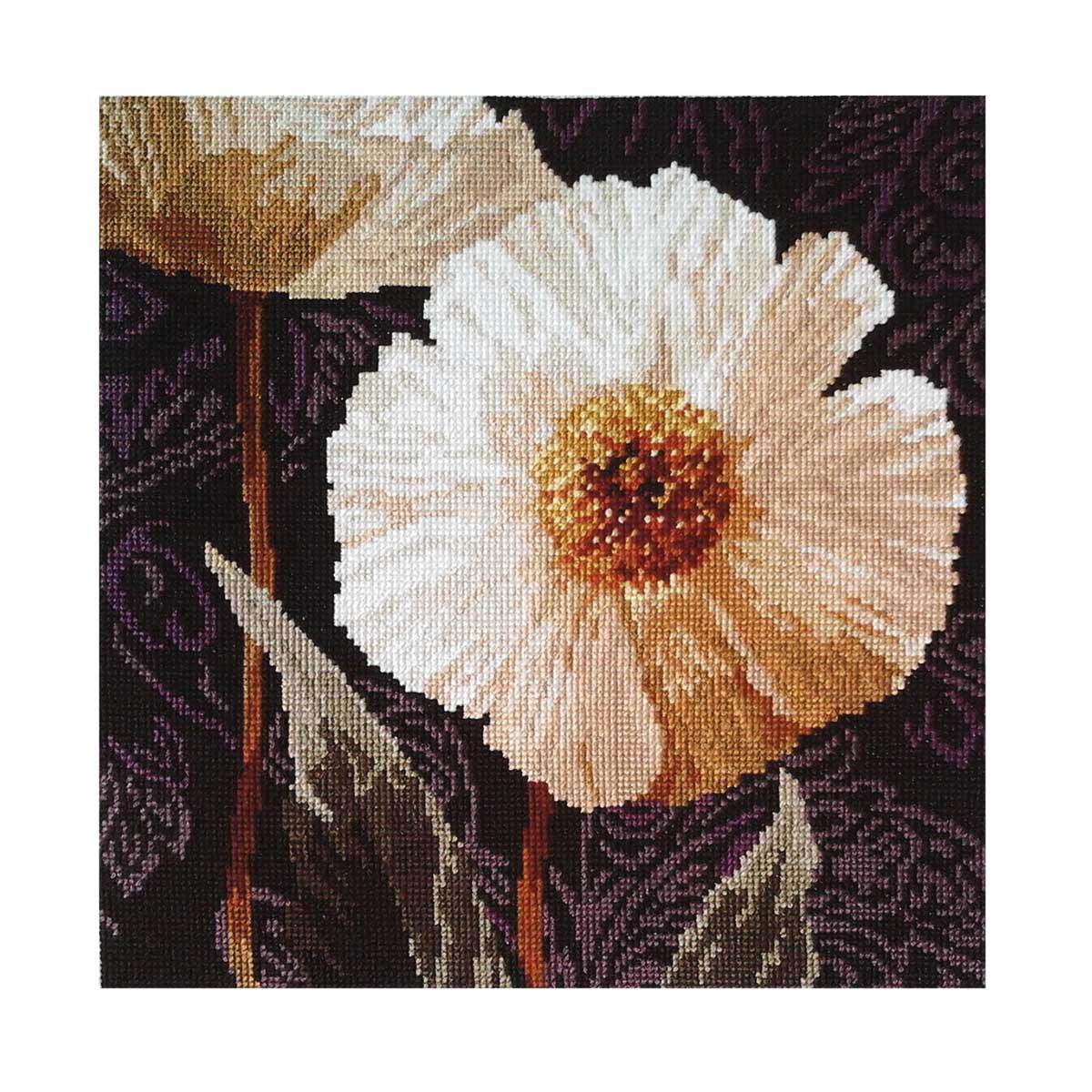 2-16 Набор для вышивания АЛИСА 'Белые цветы. Открытый свету' 25*25см