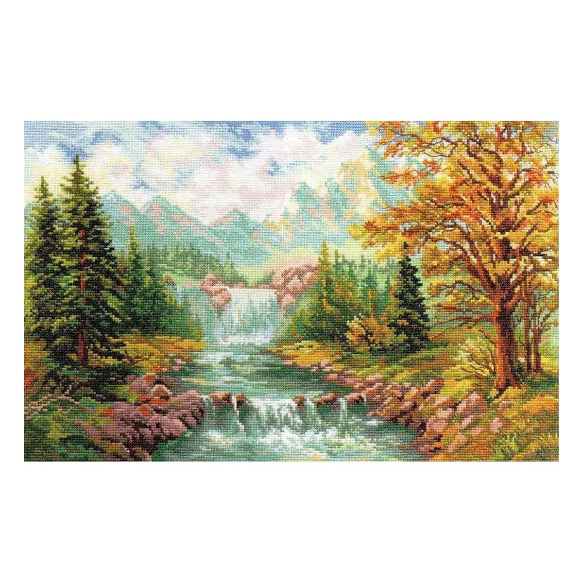 3-09 Набор для вышивания АЛИСА 'Горный водопад' 41*26см