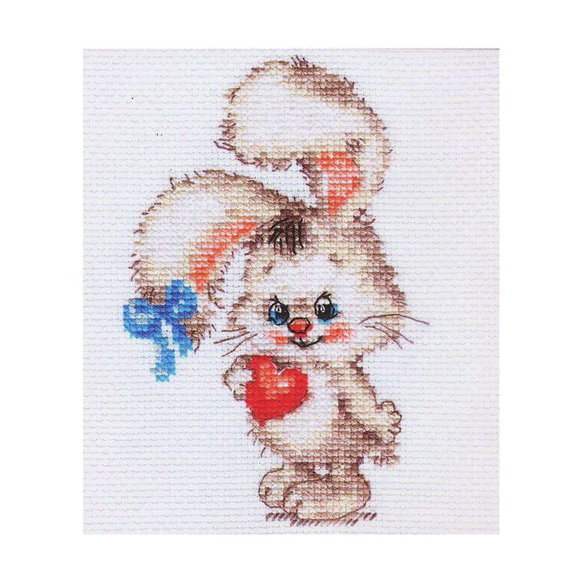 0-78 Набор для вышивания АЛИСА 'Моей зайке' 9*12см