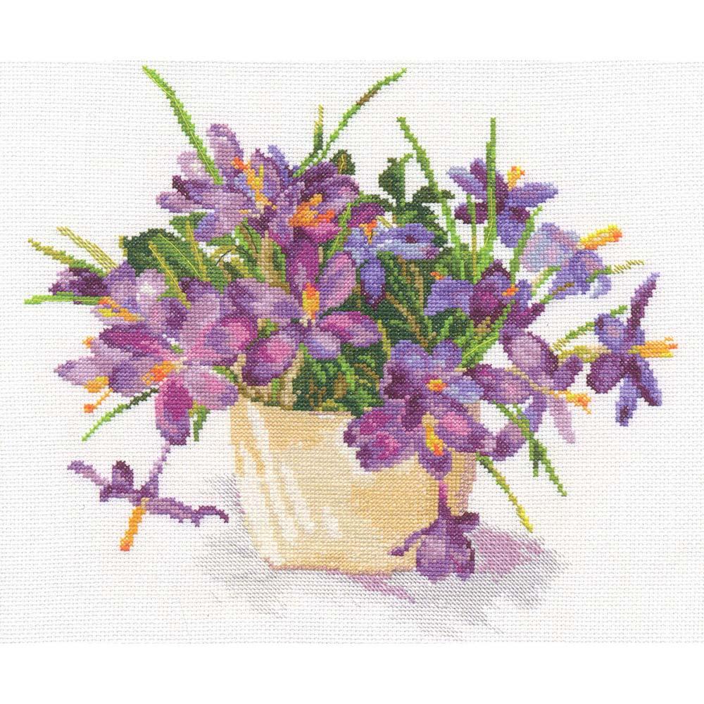 2-26 Набор для вышивания АЛИСА 'Цветущий сад: Крокусы' 26*29см