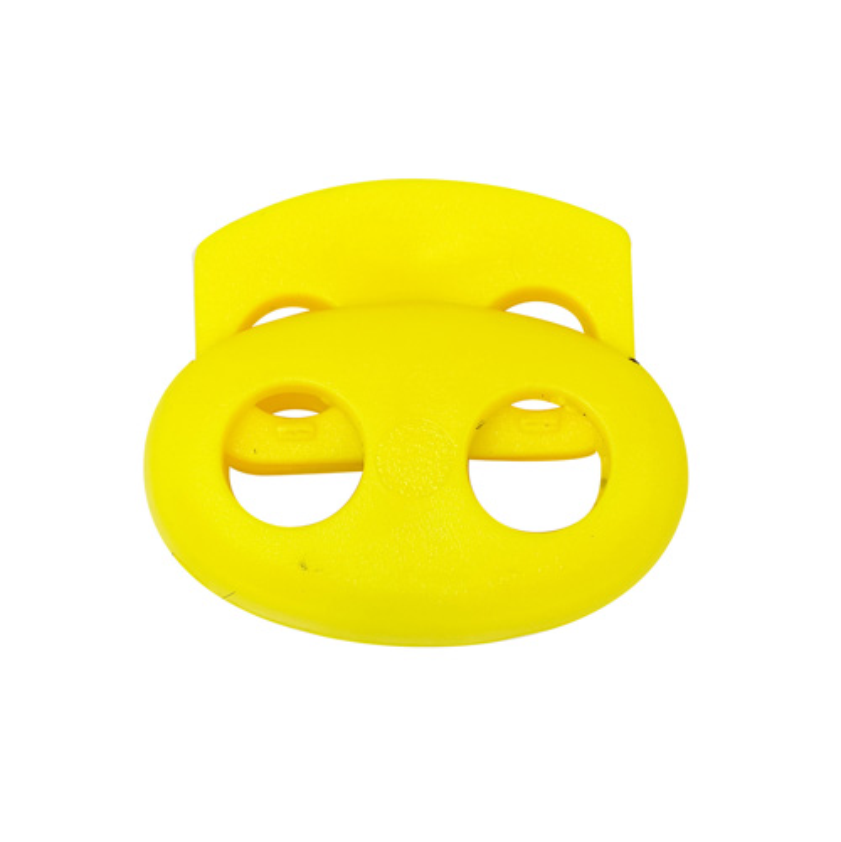 103-М Фиксатор (стопор) 'Овал' малый двухдырочный d=4мм, 14*17мм, ПП (желтый) фото