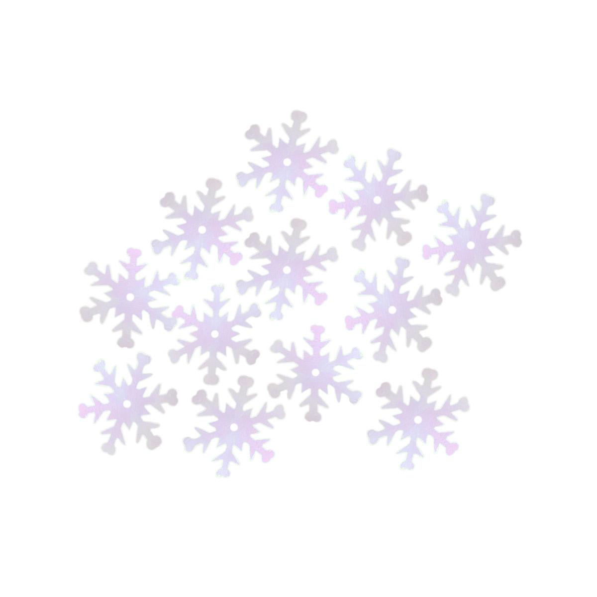 Пайетки-снежинки, 24 мм, упак./100 гр.